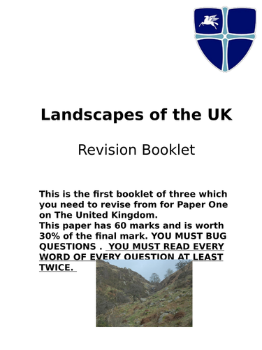 Rivers and Coasts/People of The UK Revison guides OCR/AQA