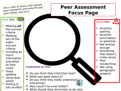 Peer Assessment Focus Page