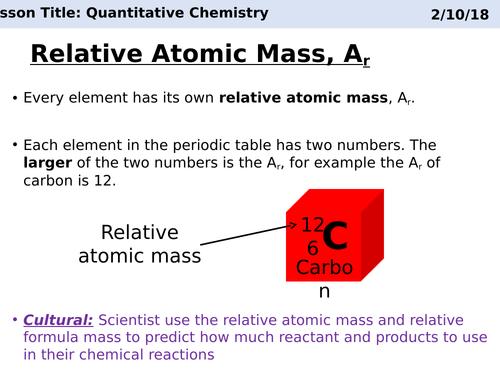 AQA C3 Quantitative chemistry revison