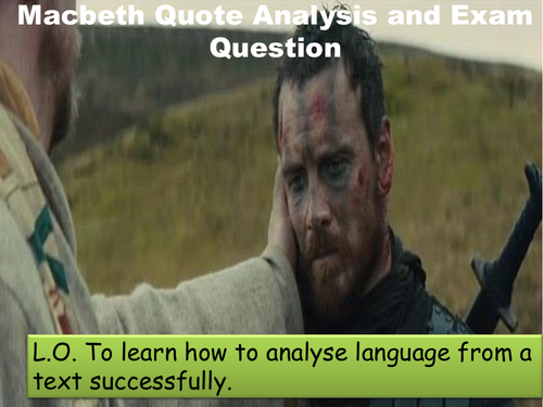 Macbeth Quote Analysis and Exam Question