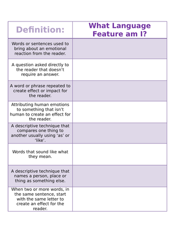 Language Features Starter