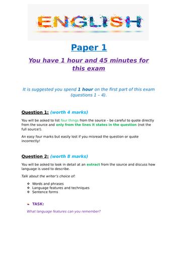 GCSE English Language Revision Booklets