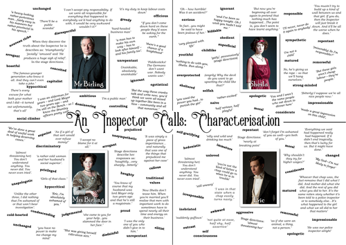 An Inspector Calls Character and Theme Learning Mats