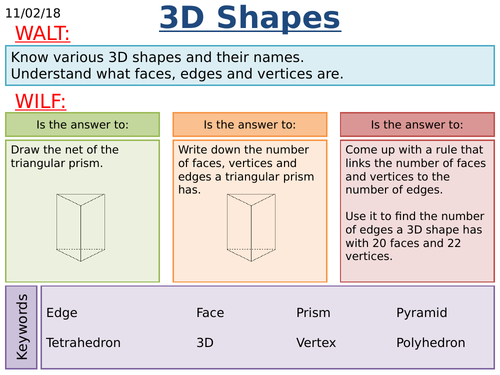 KS3/KS4 Maths: 3D Shapes