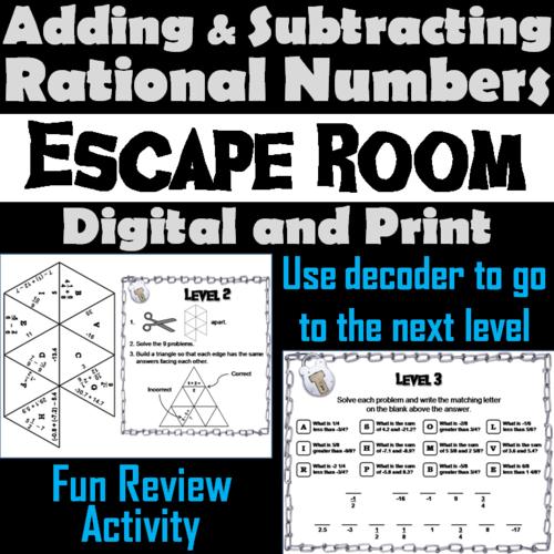 Math Escape Room Activity
