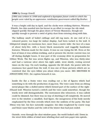 AQA English Language Paper 1 Example Paper