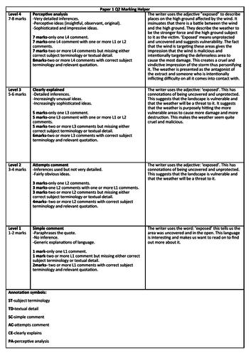 AQA English Language Paper 1 Q2