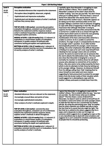 AQA English Language Paper 1, Q4