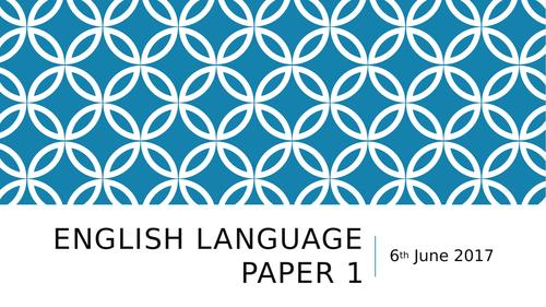AQA English Language Paper 1 Revision Session