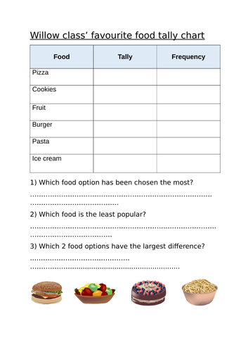Tally chart lesson worksheets Maths Year 2/3
