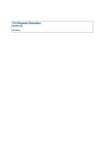 AQA AS Chemistry - Physical Exam Questions