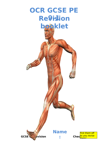 Revision booklet OCR 9-1 GCSE PE full course