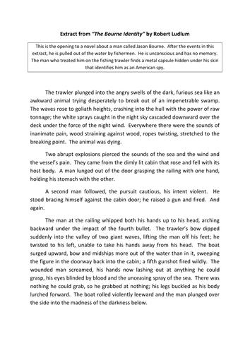 AQA Language Paper 1 Q4 link to Q5