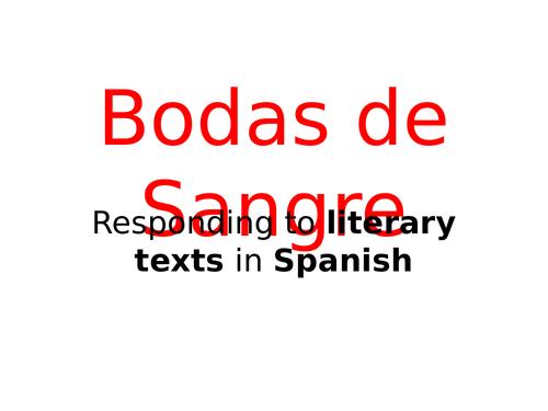 Bodas de Sangre - Writing an essay about the play