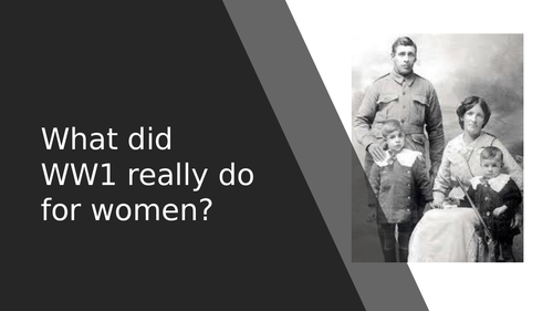 What did WW1 do for womens votes (suffrage)