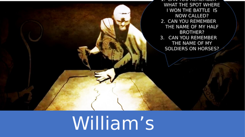 William's problems  (battle of hastings, Norman England)