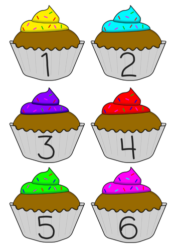 Numbers 1-30 on cupcakes