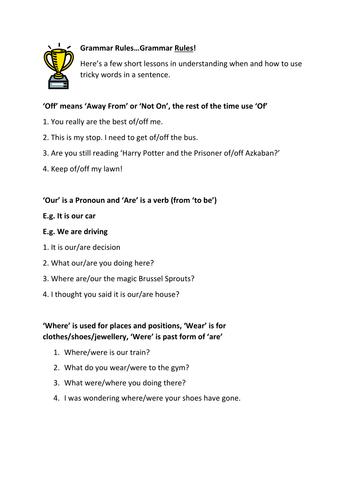 Practising Grammar Rules