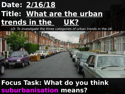 What are the urban trends in the UK?   OCR A 9-1 GCSE Geography