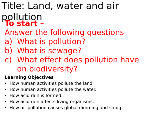 AQA Pollution
