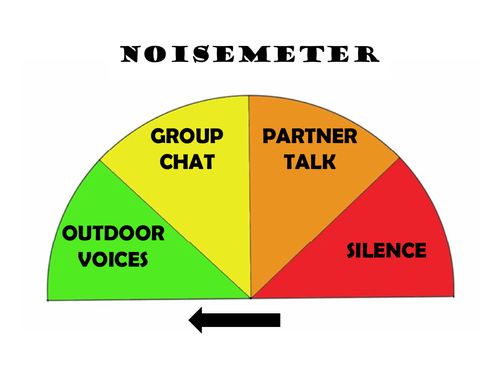 Noise meters for classroom management