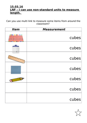 Elementary school shape, space and measure resources