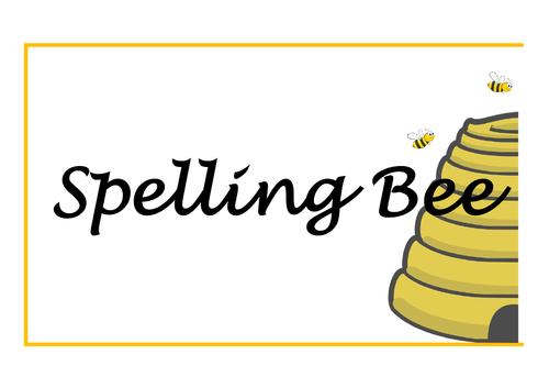 Spelling Bee display
