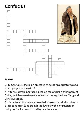 Confucius Crossword