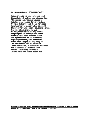 AQA GCSE Eng Lit - Power and conflict poetry by bhyt85