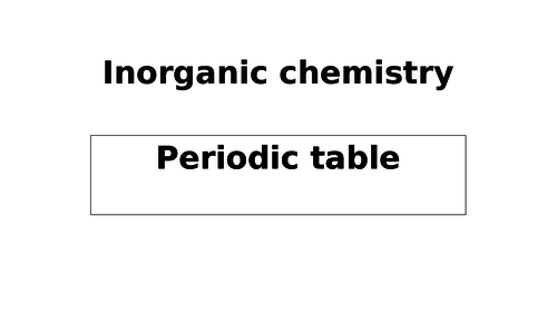New Chemistry A level - Trend in the periodic properties of Elements