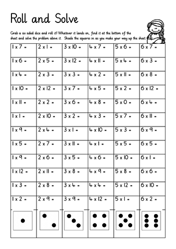 Times Tables Roll and Solve
