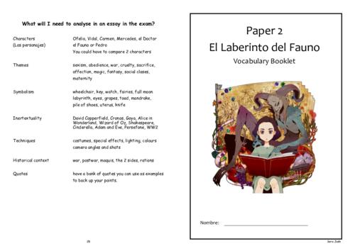 El laberinto del Fauno - Student Vocabulary Booklet