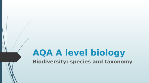 AQA A level biology taxonomy and phylogeny