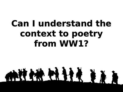 WW1 Poetry Context