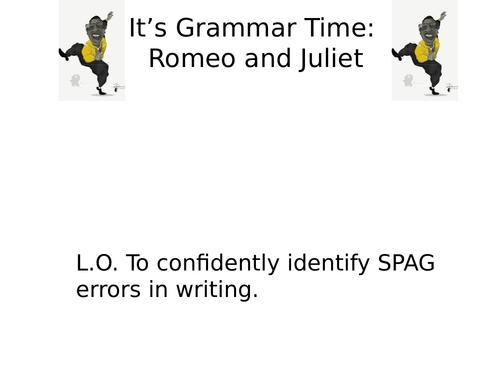 Romeo and Juliet SPAG Tasks