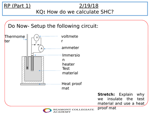 P2.2 Specific heat capacity AQA RP