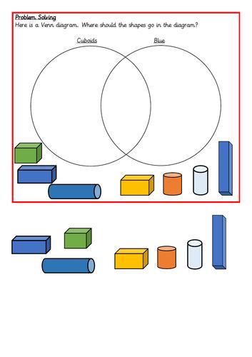 Sorting 3D shapes, Spring Block 3, Year 2