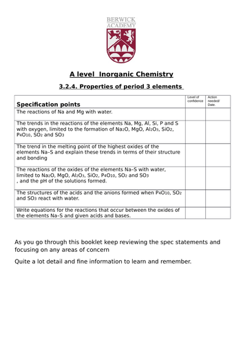 New Chemistry A level - Periodicity A level topic, reactions and features of the Oxides of group 3