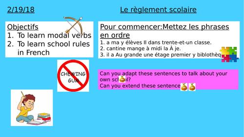KS3- School rules- Le règlement scolaire