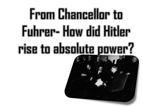 Hitler's rise to Chancellor