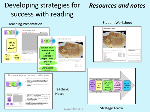 KS3/text level French Reading arrow-whole lesson introduction to reading strategies
