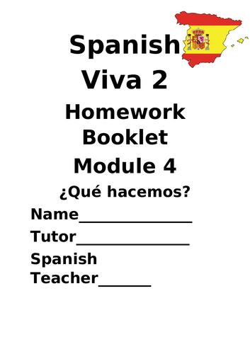 Y8 Tiempo libre (Revision booklet)