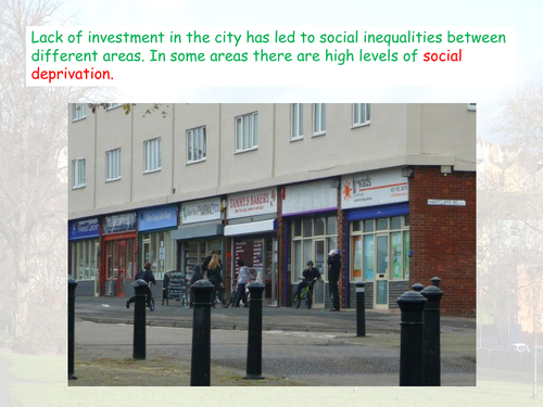 Social Inequality in Bristol- AQA GCSE - The Urban World