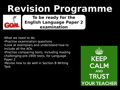 AQA GCSE 9-1 English Language Paper 2 Revision programme