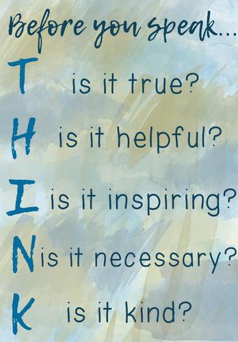 THINK Poster {Watercolour Theme}