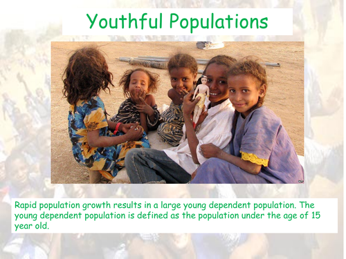 Youthful Popualtion- CIE AS Geography - Population