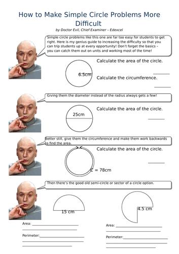 Dr Evil's Circle Problems