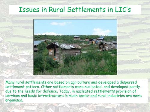 Changes in Rural Settlements - CIE AS Geography - Settlement