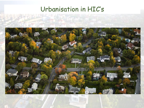 Urbanisation in MIC's - CIE AS Geography - Settlement