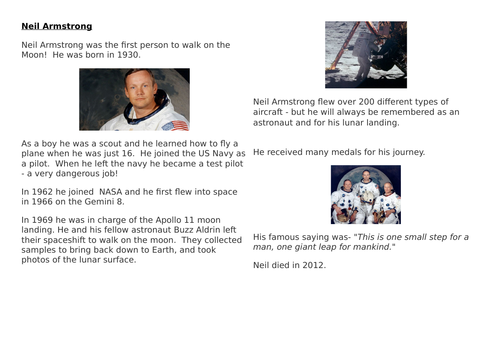 Neil Armstrong Text and Networking Grid